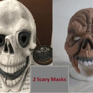 Two Dillon Scary Masks For Halloween